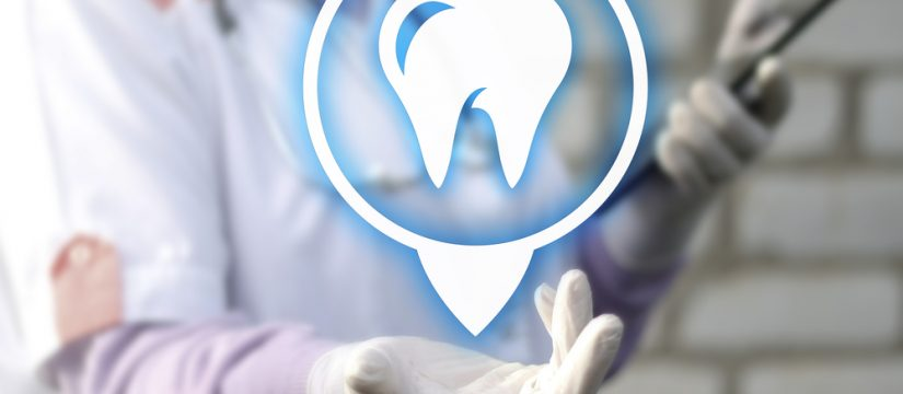 dentist with a tooth logo